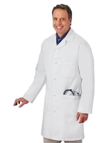 "Meta Men's 38"" Knot Button Lab Coat"