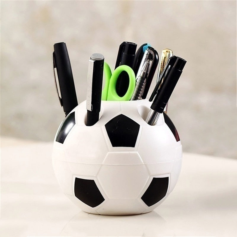 Soccer Shape Tool Supplies Pen Pencil Holder Football Shape Toothbrush Holder Desktop Rack Table Home Decoration Student Gifts