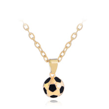 Load image into Gallery viewer, Sporty necklace football Pendant With Chain Soccer Necklace Gold /Siliver Color Men/Women sport ball Jewelry