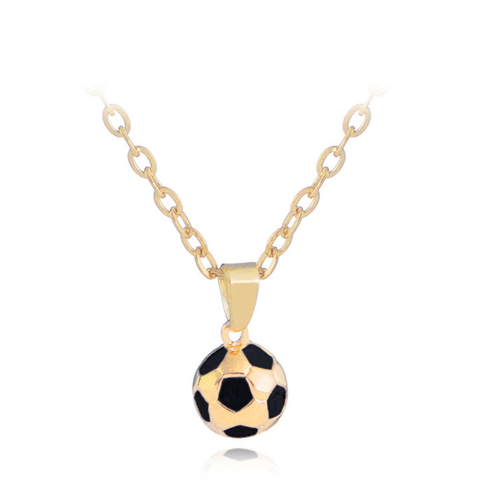 Sporty necklace football Pendant With Chain Soccer Necklace Gold /Siliver Color Men/Women sport ball Jewelry