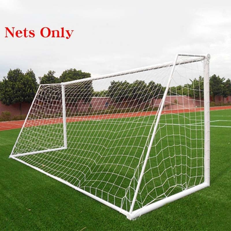Soccer Ball Goal Net Football Nets Polypropylene Mesh for Gates Training Post Nets Full Size Nets only 4 S