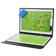 Load image into Gallery viewer, Portable Trainning Assisitant Equipments Football Soccer Tactical Board 2.5 Fold Leather Useful Teaching Board