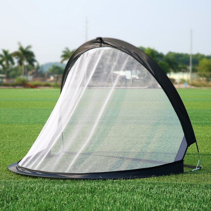 2Piece Soccer Football Goal Net Folding Black Training Goal Net Tent Kids Indoor Outdoor Play Toy