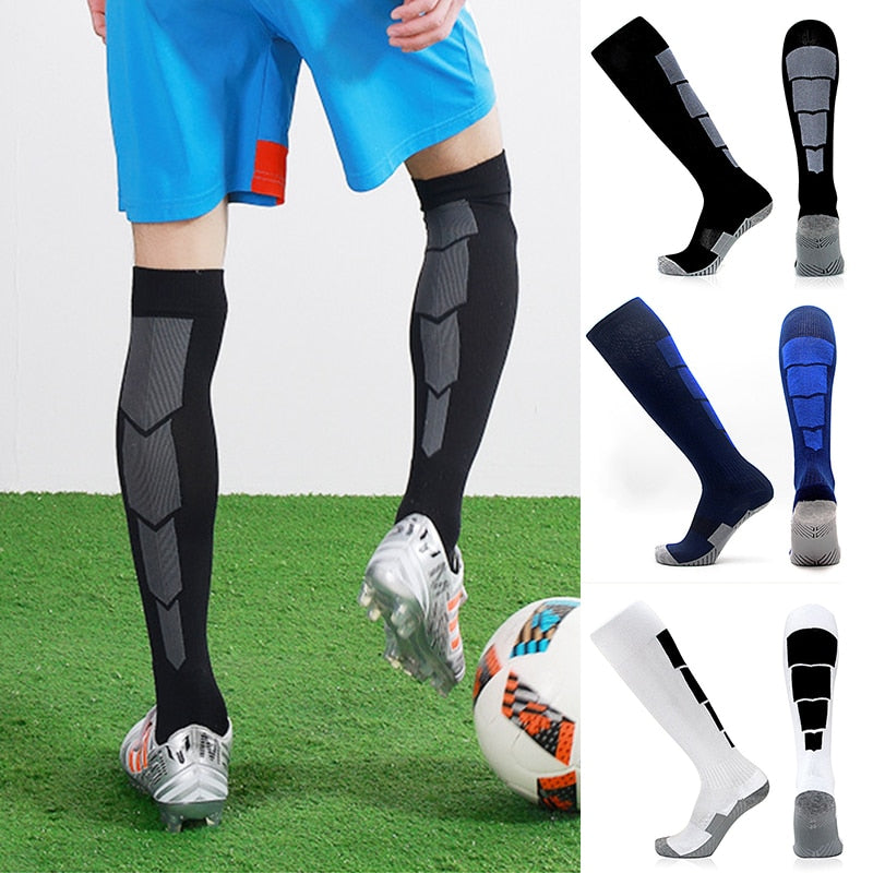 Nylon Long Tube Socks Football Socks Soccer Match Antiseptic Deodorization Economic Durable