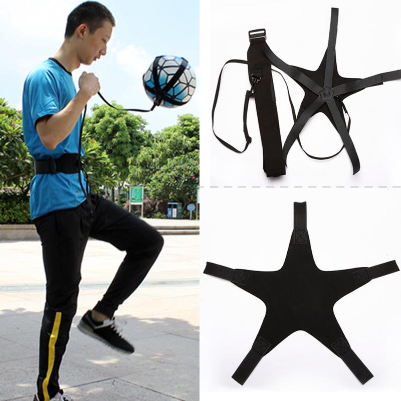 Soccer Ball Juggle Bags Children Auxiliary Circling Belt Kids Football Training Equipment Soccer Trainer Football Kick