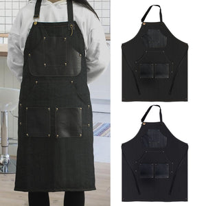 Handmade Adjustable Tattoo Apron High Quality Denim Jean Tattoo Working Apron with Neck Straps Tools Pockets