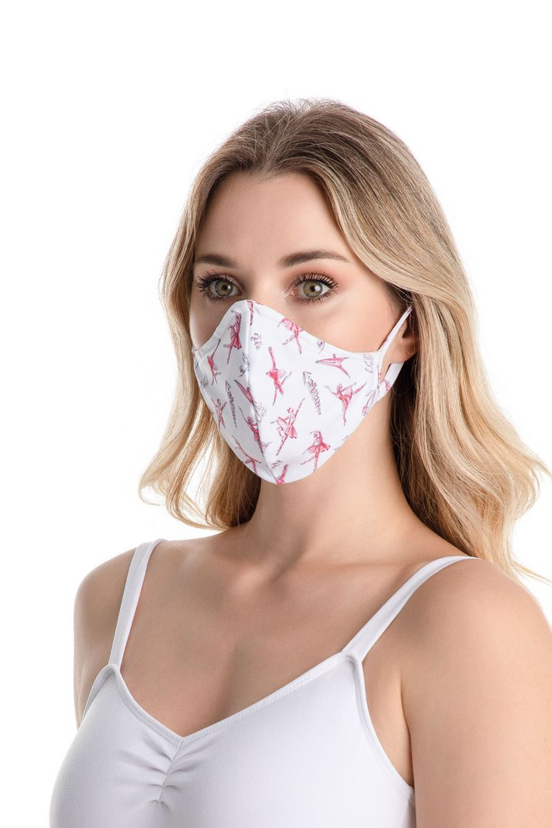SoDanca Adult Fitted Print Face Mask with Ear Loops - RDE2176