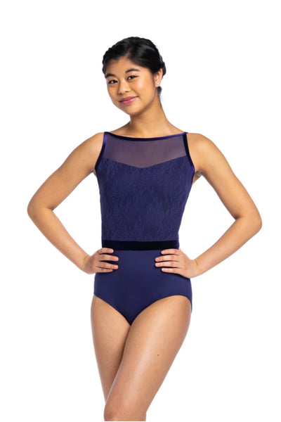 Ainsliewear Jacq with Kara Lace and Velvet Leotard - 1045KLV