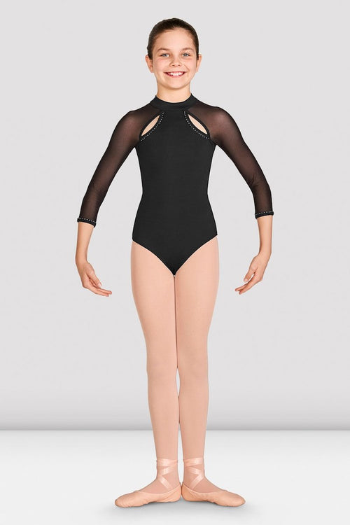 Bloch Girls Kaylee Mesh Long Sleeve Leotard - CL5526