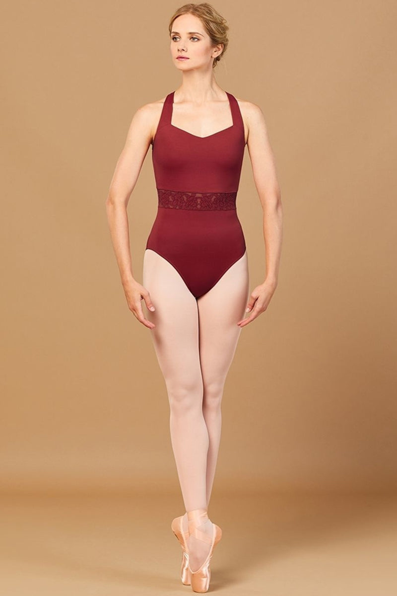 Bloch Ladies Rosetta Embroidered Waist Leotard - L2965