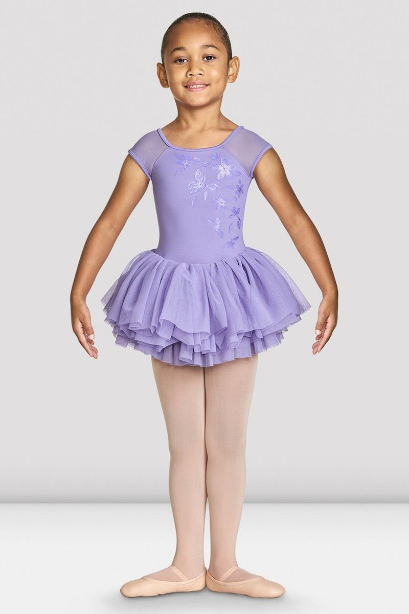 Bloch Shirina Mesh Cap Sleeve Girls Tutu Leotard - CL4910