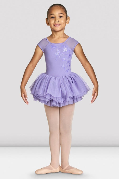 Bloch Girls Shirina Mesh Cap Sleeve Tutu Leotard - CL4910