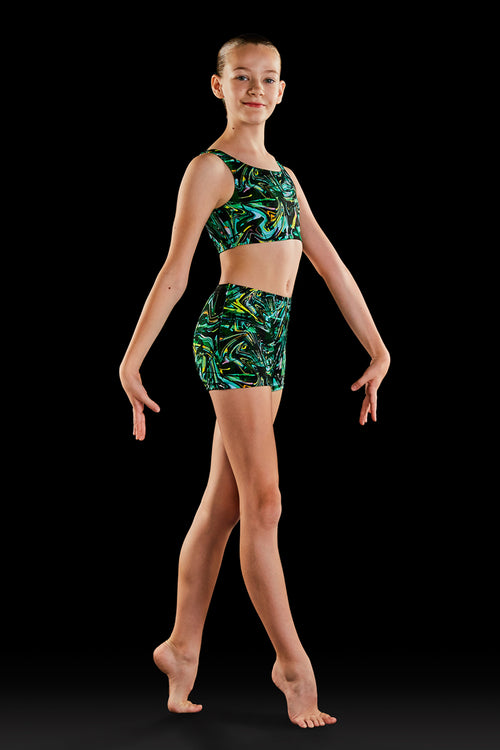 Bloch Gymnastics (Dynami) Techno Girls Crop Top - GB177C