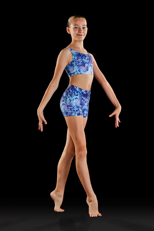 Bloch Gymnastics (Dynami) Dreamy Blooms Girls Crop Top - GB178C