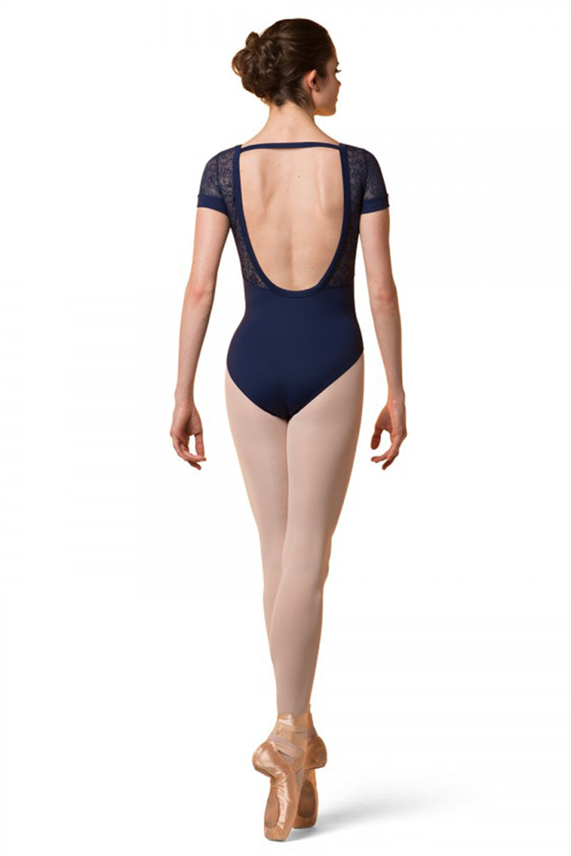 Mirella Low Back Cap Sleeve Leotard - M5071L