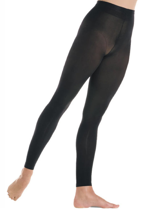 Mondor Children Footless Tights - MD312 (Black & Light Tan)
