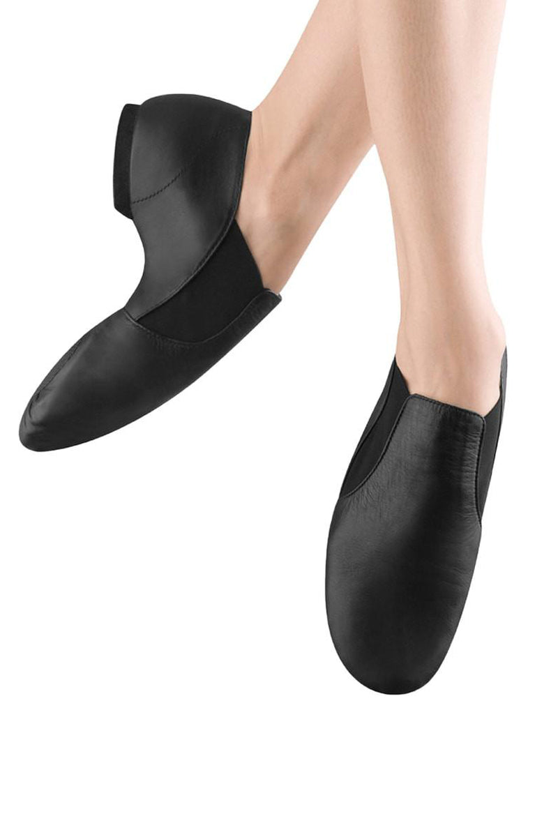 Bloch Ladies Leather Elasta Jazz Booties - S0499L
