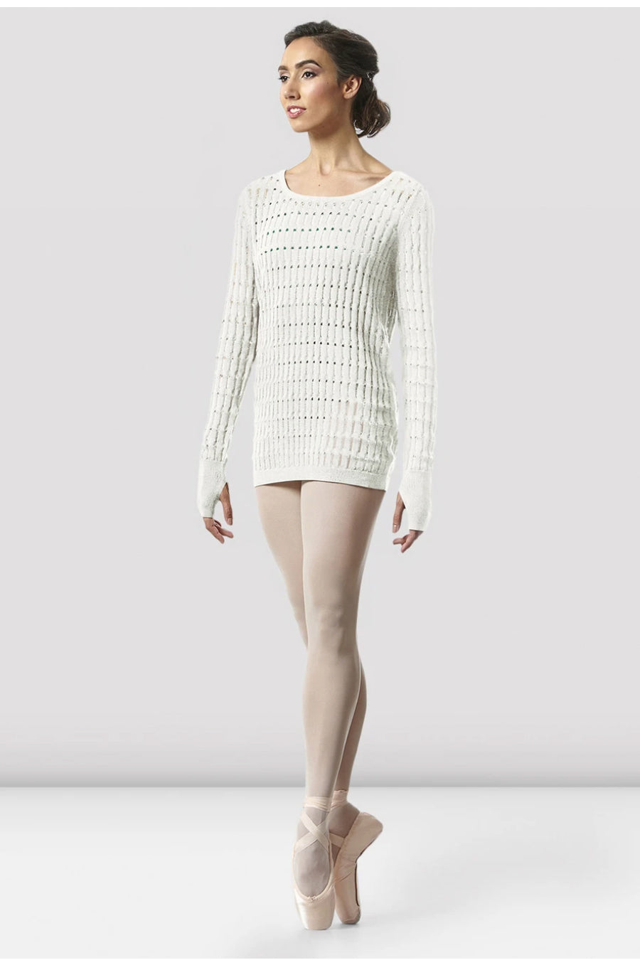 Bloch Ladies Shina Knit Warm-up Top - Z5529