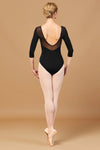Bloch Jillian Embroidered Waist 3/4 Sleeve Adult Leotard -  L5516