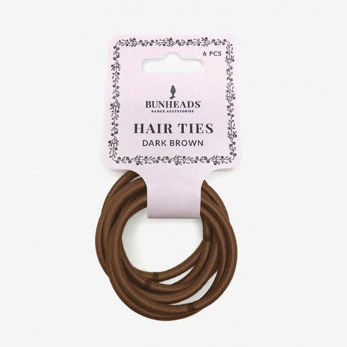 Capezio Hair Elastics X Dark Brown - BH1510