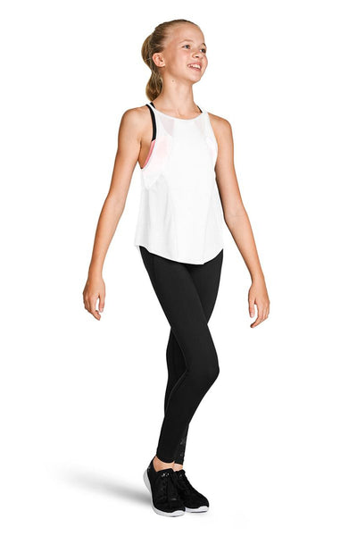 Bloch Child Mesh Panelled Detail Top - FT5220C