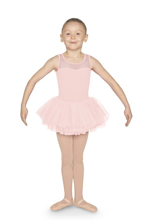 Mirella Girls Diamente Bow Back Tutu Dress - M1073C