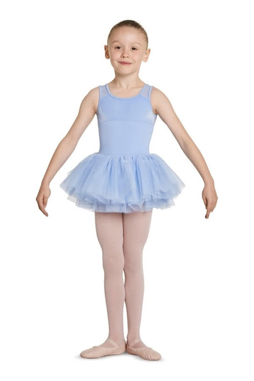 Mirella Girls Velvet Tutu Dress with Mesh Back - M456C