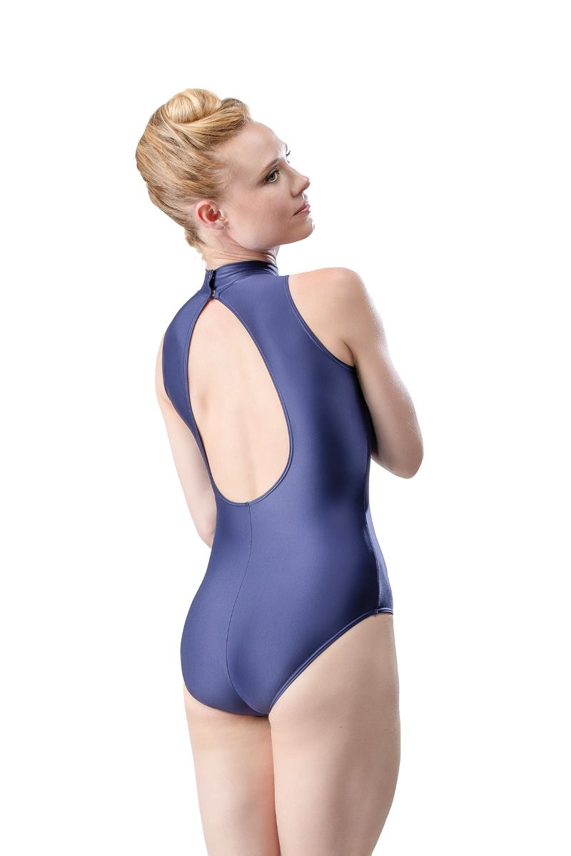 Sara Mearns Adult Halter Top Shimmer Microfiber Leotard - RDE1931