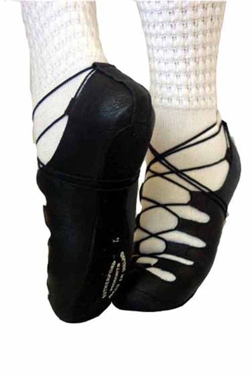 Rutherford Adult Black Suede Full Sole Irish Dancing Shoes