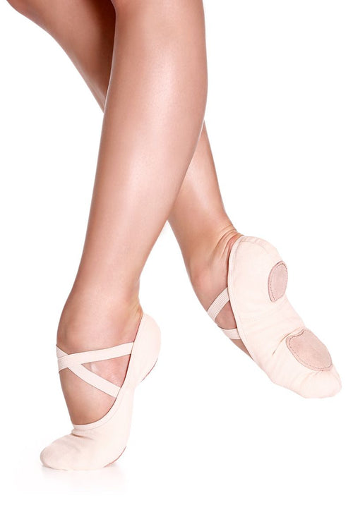 SoDanca Adult Stretch Canvas Split Sole Ballet Slipper - SD16L Light Pink