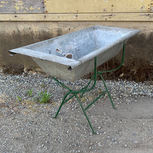 Zinc Trough with stand