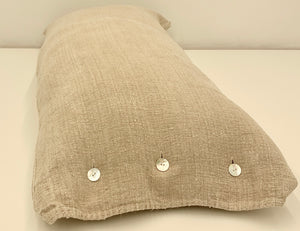 Vintage Tan Grain Sack Body Pillow 41 x 18