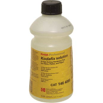 Kodafix Solution for Black & White Film & Paper - Liquid Quart Concentrate (To Make 1 Gallon for Film/ 2 Gallons for Paper)