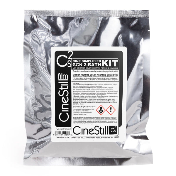 "Cs2 ""Cine Simplified"" ECN 2-Bath Kit, for Low-Contrast Motion Picture Color Negatives For ECP & Scanning"