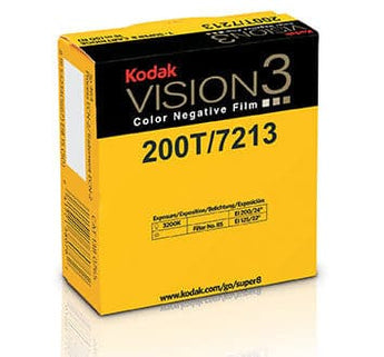 200T Color Negative Film VISION3 7213, 50 ft Super 8 Cartridge