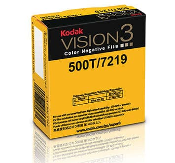 500T Color Negative Film VISION3 7219, 50 ft Super 8 Cartridge