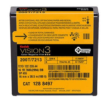 200T Color Negative Film VISION3 7213, 16 mm