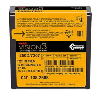 250D Color Negative Film VISION3 7207, 16mm