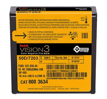 50D Color Negative Film VISION3 7203, 16mm