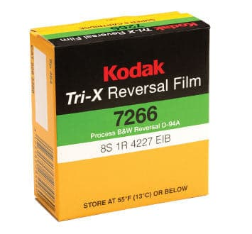 TRI-X Reversal Film 7266, 50 ft Super 8 Cartridge