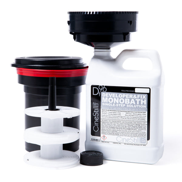 BLACK & WHITE PROCESSING STARTER KIT - Df96, Developing Tank W/ Funnel & Film Reels