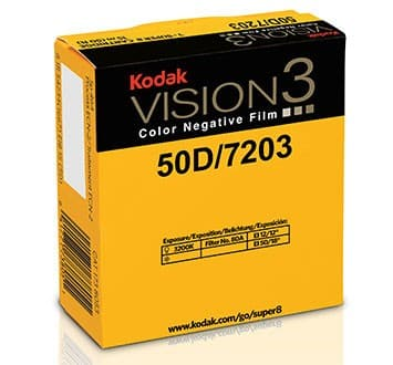 50D Color Negative Film VISION3 7203, 50 ft Super 8 Cartridge