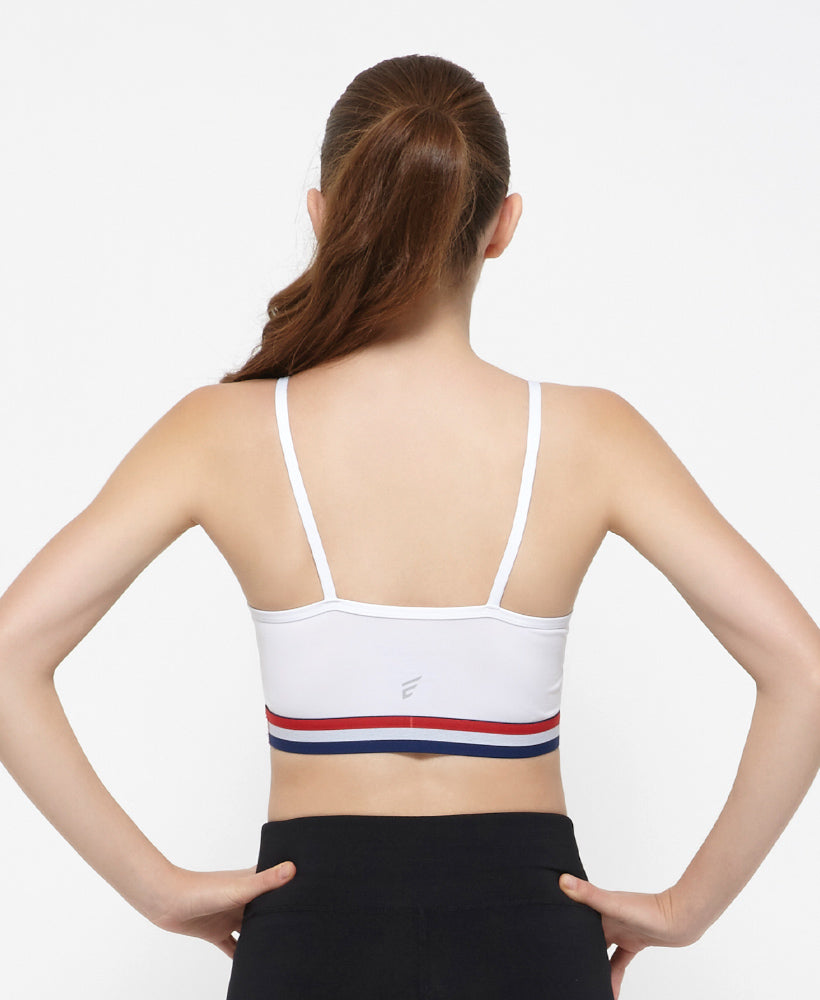 Energized Nautical Strappy Back Sports Bra 201-1038C