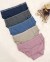 Classic Melange Cotton Packaging Panties - Midi 505-6641