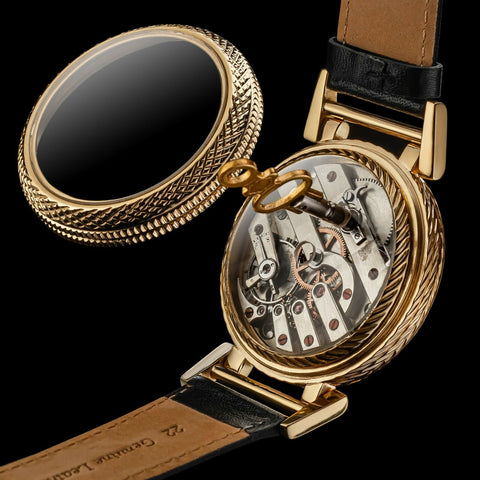 Jules Huguenin pocket watch turned into wristwatch