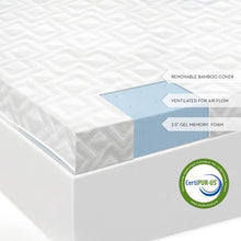 Load image into Gallery viewer, gel memory foam mattress topper review