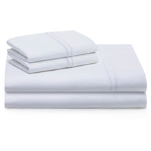 Load image into Gallery viewer, white bed sheets, queen white bed sheets, white bed sheets king size