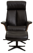 Load image into Gallery viewer, black recliner chair