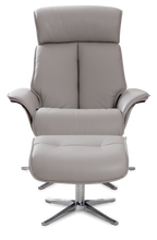 Load image into Gallery viewer, grey recliner chair