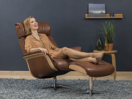 small leather recliner